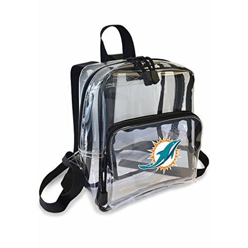 y Officially Licensed NFL Miami Dolphins Unisex X-Ray Mini Stadium Friendly Transparent Backpack (Transparent Dolphin)