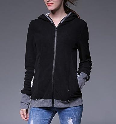 Damen Tragen Sie das Baby K/änguru Pregnancy Hooded Sweatshirt Tragejacke pullover f/ür beide