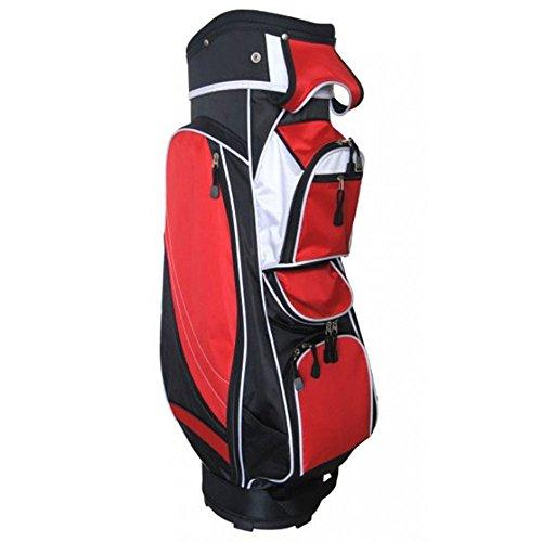 Precise Golf MX14 Cart Bag 2017 Black/Red by PreciseGolf Co.