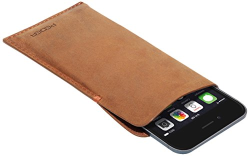Pedea Echtleder Tennessee Tasche für Apple iPhone 6 tobacco brown