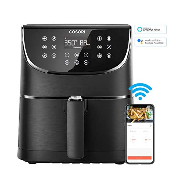 COSORI Smart WiFi Air Fryer 5.8QT(100 Recipes), Digital Touchscreen with 11 Cooking Presets for Air Frying, Roasting… 2