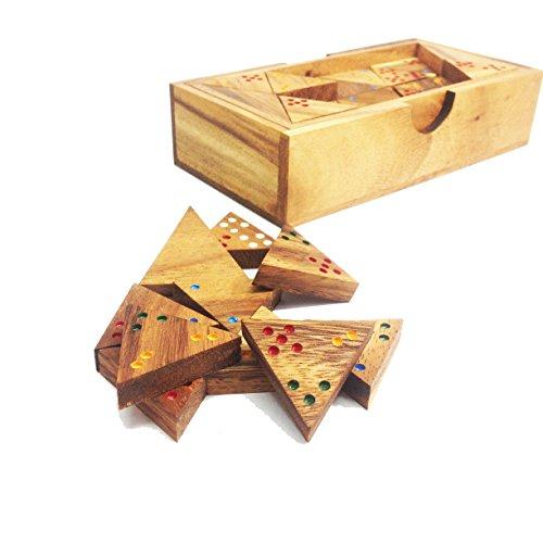 Triominosゲーム:木製Triominosゲーム–ゲームforキッズゲーム大人用手作りゲーム木製ゲーム
