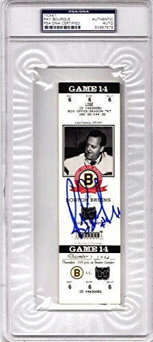 Framed Ticket Holder - Ray Bourque Autographed Boston Bruins Ticket from 12/1/94 The Final Season at The Boston Garden - PSA/DNA Authenticity (COA) - PSA Slabbed Holder
