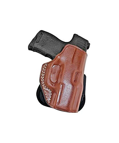 Masc Premium Leather Paddle Holster Fits Sig P365 9mm Micro Compact 3.1''BBL, Right Hand, Brown #1329#