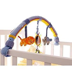 Highdas Lit Bébé / Berceaux & Buggy / Poussette Arch Double-utilisation Hanging comprennent Teether Music Plush Toys et Rattle (Elephant) 3
