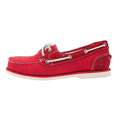 Timberland , Chaussures bateau pour femme vierge red