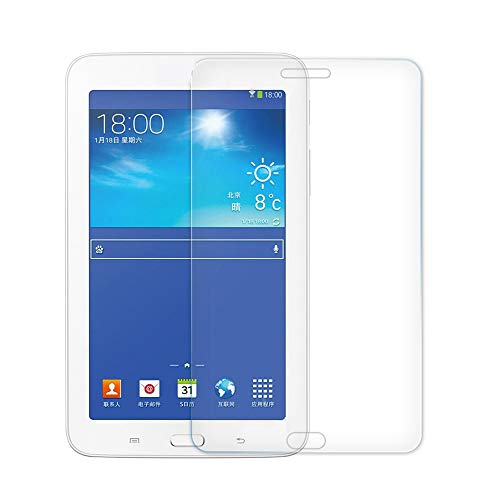 [2 Pack] KIQ Premium Tempered Glass Screen Protector for Samsung Galaxy Tab 3 7.0 P3200 / T210 / T217 [ Real Glass, 9H Hardness, Anti-Scratch, Bubble-Free, Easy Installation, 0.30mm Thickness]