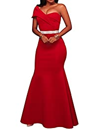 Womens Sexy Off The Shoulder Oversized Bow Applique Evening Gown Party Maxi Dress