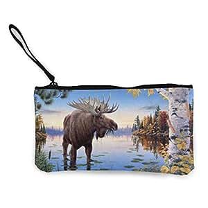 Serity Free Moose - Monedero portátil de Lona con ...