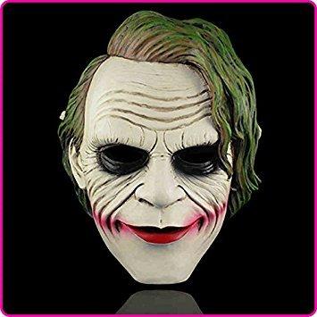 Hallowen Mask (2015 - Free Shpping White Hallowen Costume Resin Face Masks Batman the Dark Knight Joker Clown Mask)