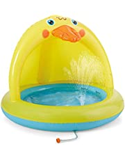 Shade Baby Pool, Sprinkle and Splash Play Pool, Outdoor Duck Bathtub of 39 Inches