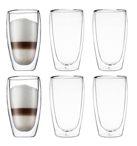- Bodum Pavina Double-wall Insulated 15-ounce Glasses - (Set of 6)
