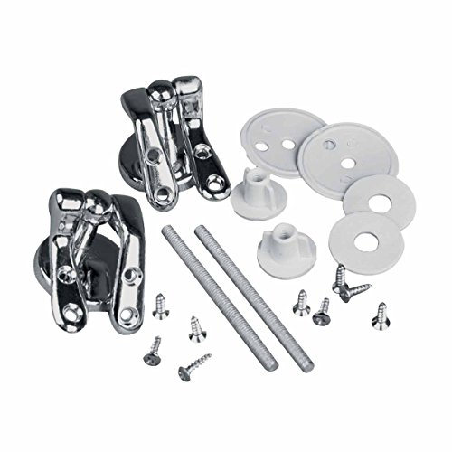 Solid Brass Pair Toilet Seat Hinge Replacement Chrome | R...