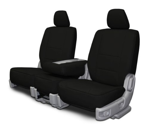 Custom Fit Seats Covers - Toyota Rav 4 Low Back Seats - Black Leatherette Fabric (Toyota Rav 4 2014 Seat Covers compare prices)