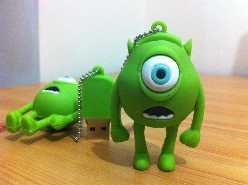 8GB Mini Mike Wazowski USB Flash Drive from MONSTER INC Funny Memory Stick (8G, green) -