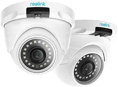 Reolink PoE IP Camera Outdoor 5MP HD Video Surveillance Work with Google Assistant, Security IR Night Vision Motion Detection Audio SD Card Slot