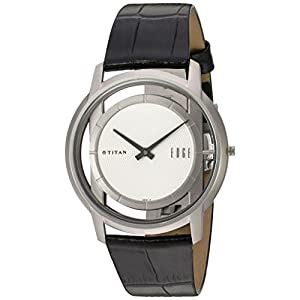 Titan Men's 1577TL01 Analog Display Quartz Black Watch
