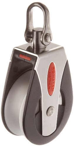 "RONSTAN RF51100 Series 50 AP Block Universal Head Single Pulley, 3310 Lbs Load Capacity, 2"" Sheave"