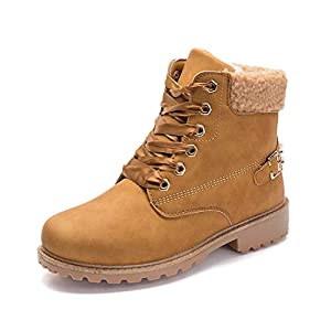 Donna Inverno Pelliccia Stivali da Neve Stringate Scarpe Snow Boots Caviglia Caldo Stivali Stivaletti Cachi Grigio Rosa 36-41