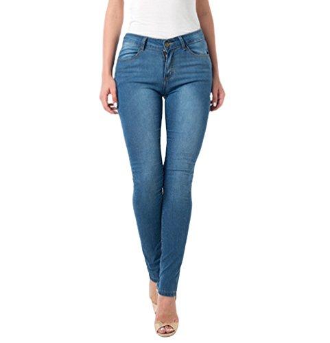 Moda Jeggings Blu Alta Jeans Wanyang Skinny Elastici Pantaloni Vita Donne Donna A Casual Eleganti 4zOqwp6d