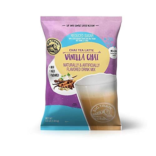 Big Train Chai Tea Latte, Reduced Sugar, Vanilla Chai, 56 Ounce, Powdered Instant Chai Tea Latte Mix, Spiced Black Tea…