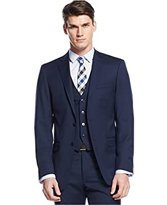 Calvin Klein Extreme Slim Navy Solid Two Button NEw Men's Sport Coat
