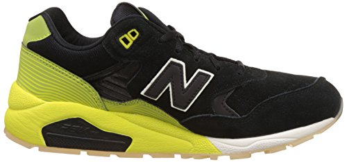 New Balance MRT580 Mens Suede Trainers Black Lime - 43 EU