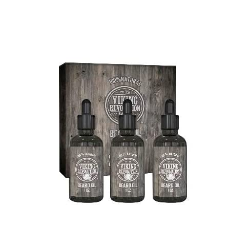 viking revolution beard oil conditioner - all natural unscented organic argan & jojoba oils – softens, smooths & strengthens beard growth – grooming beard and mustache maintenance treatment, 3 pack - 41SRAGpKUNL - Viking Revolution Beard Oil Conditioner – All Natural Unscented Organic Argan & Jojoba Oils – Softens, Smooths & Strengthens Beard Growth – Grooming Beard and Mustache Maintenance Treatment, 3 Pack