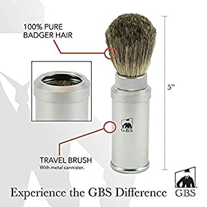 MERKUR Futur Adjustable Double Edge Saftey Razor(700002) Comes with GBS Travel shave brush, Alum block, Ocean Driftwood Shave Soap + Tin w/Lid and blades!