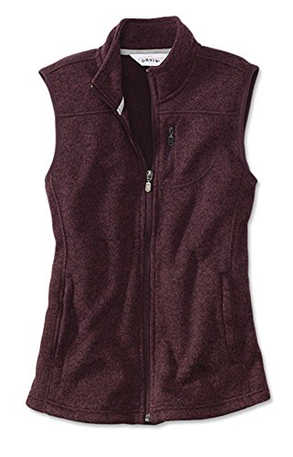 Orvis Women's Women's Marled Sweater-fleece Zip-front Vest / Marled Sweater-fleece Zip-front Vest, Port, Medium