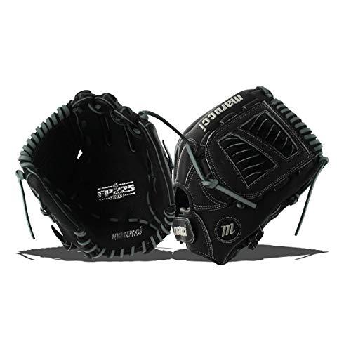 Marucci MFGFP12S-BK/GY-RG FP225 Series Softball Fielding Gloves, Black/Gray, 12