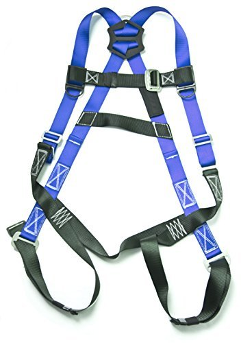 Gulfe Warehouse Adjustable Safety Harness Full-Body Picker w/ Pass Through Legs Black/Blue by Gulfe