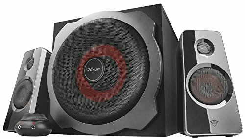Trust GXT 38 2.1 PC Gaming Speaker System with Subwoofer for Computer and...
