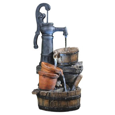 Jeco Classic Water Pump Fountain with Led Light ()