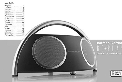Price comparison product image Harman Kardon Go-Play Hi-fi Speaker Owners Instruction Manual