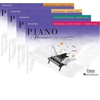 Faber Piano Adventures Primer Level Learning Library Set Lesson,Theory, Performance, Technique and Artistry (Faber Accelerated Lesson 1)