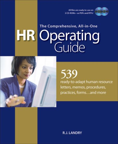 Personnel Forms Software - The Comprehensive, All-in-One HR Operating Guide: 539 Ready to Adapt Human Resource Letters, Memos, Procedures, Practices, Forms . . . and More