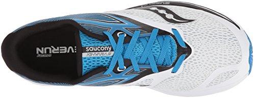 Saucony Heren Kinvara 9 Hardloopschoen Wit / Blauw