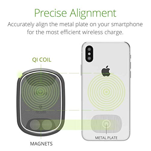 iOttie iTap 2 Wireless Magnetic Qi Wireless Charging Air Vent Mount || Compatible with iPhone Xs XR X Max Samsung S10 S9 + Smartphones | + Dual Car Charger by iOttie (Image #1)