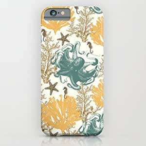 Society6 - Aquatic Pattern 2 iPhone 6 Case by Paula Belle Flores