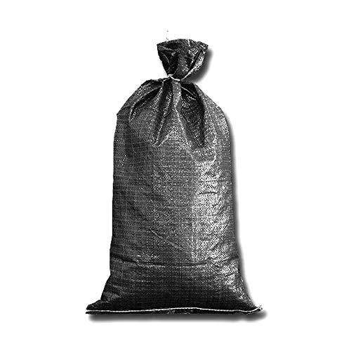 FAMI HD Sandbags 4000 UV HR 16''x 25'' Black Woven Polypropylene Sandbags 10 Pack- Black