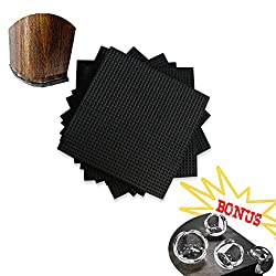 """12PCS DIY Furniture Pads Non Slip - 3.4"""" with 4PCS Corner Protectors Non Scratch Furniture Grippers for Floor Protector Extra Sticky Good for Protect Hardwood Floors, Couch, Bed Frame"""