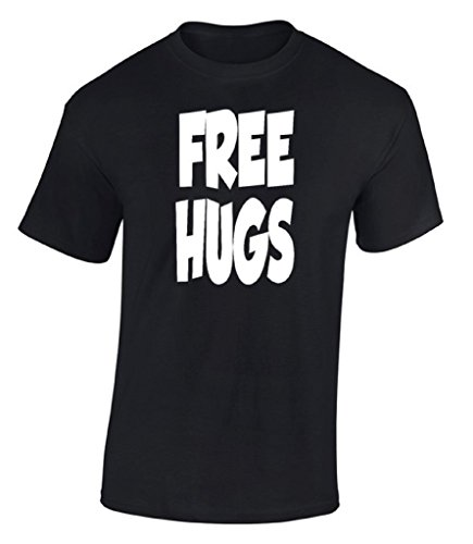 Raxo Free Hugs T-shirt Funny Slogan College Humor Party Gift Cool ()