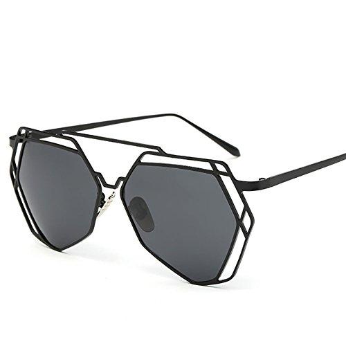 Couple Sunglasses,NACOLA Unisex UV400 Hollow Out Metal Frame Hexagon Polarized Tinted Lens Sun Glasses by NACOLA