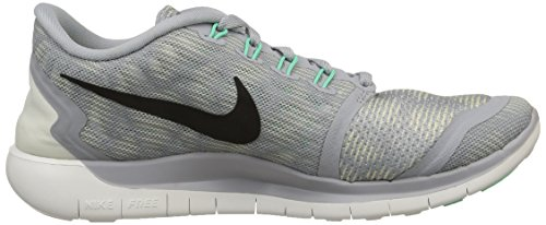 NikeFree 5.0 Print - zapatillas de running Mujer Gris - Grau (Wolf Grey/Black/Summit White/Green Glow)