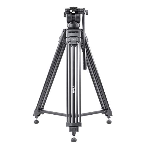 3Pod V3AH Video Tripod System Anodized Aluminum with 2-way Fluid Head & Quick-Release Plate: Include Free Carrying Case ()
