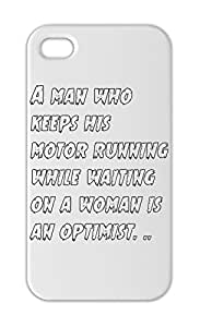 A man who keeps his motor running while waiting on a woman Iphone 5-5s plastic case