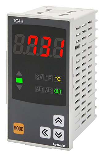 Autonics TC4H-14R Temp Control, 1/8DIN, Single display 4 Digit, PID Control, Relay & SSR Output, 1 Alarm Output, 100-240 VAC