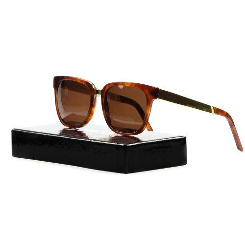 Retro Super Future 350 Havana and Yellow Gold Metal People Wayfarer - Sunglasses Retrosuperfuture People