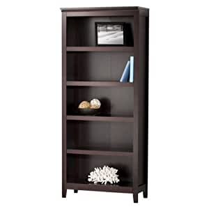 Threshold Carson 5 Shelf Bookcase Espresso Kitchen Dining